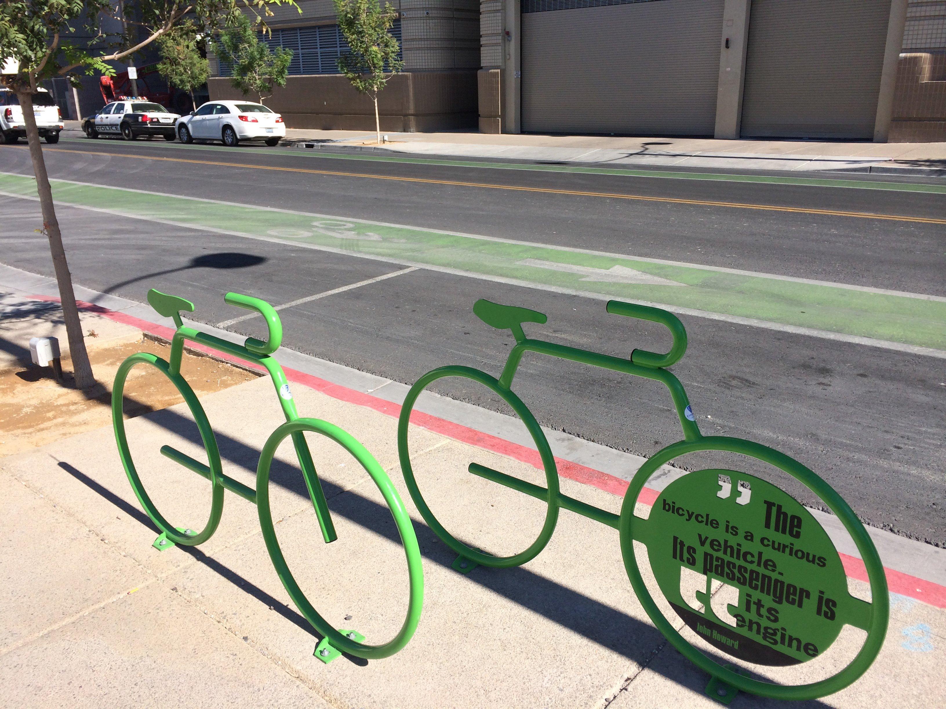 Some cool bike parking in Downtown Las Vegas...
