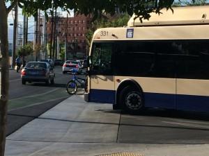 Bike racks on busses!