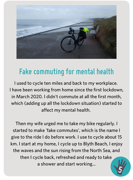 Fake Commute for Mental Health